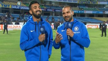 Shikhar Dhawan Turns an Anchor on Chahal TV, Trolls Yuzvendra Chahal Hilariously By Saying 'Apne Daant Andar Karwane Gaya Hai' (Watch Video)