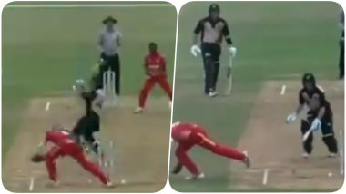 Zimbabwe U-19 Cricketer Dane Schadendorf Replicates MS Dhoni's Stumping in Match Against New Zealand (Watch Video)