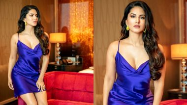 Sunny Leone's Sexy Turn in This Blue Dress Will Drive Your Blues Away (See Pics)