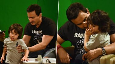 Saif Ali Khan Gets Company During Jawaani Jaaneman Promotions And It's Taimur (View Pics)