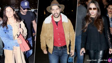 Ranbir Kapoor-Alia Bhatt and Varun Dhawan-Natasha Dalal Are Back Home Post Their New Year Vacay! Lovebirds Spotted at the Mumbai Airport (View Pics)