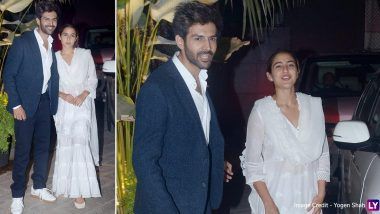 Netizens Are All Hearts for Sara Ali Khan and Kartik Aaryan after Their Pic Posing Together for Shutterbugs Hit the Internet Once Again