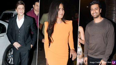 Shah Rukh Khan, Katrina Kaif, Vicky Kaushal and Others Make a Stylish Appearance at Ali Abbas Zafar's Birthday Bash (View Pics)