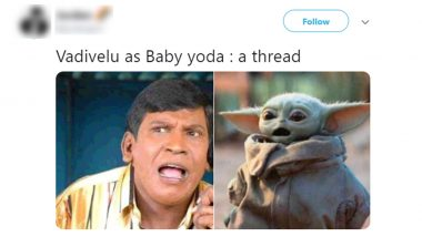 Vadivelu as Baby Yoda Funny Memes and Jokes Are All Over Twitter and Our Lives Are Not Going To Be The Same Again