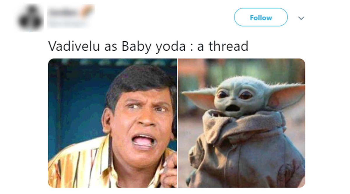 Vadivelu As Baby Yoda Funny Memes And Jokes Are All Over Twitter