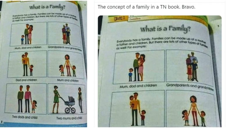 Fact Check: Viral Picture of Tamil Nadu School Textbook Including Homosexuality in Concept of Family is Actually From Egypt!