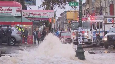 New York Hit by Water Main Break on Upper West Side, Subways Shut, Streets Flooded; Watch Video