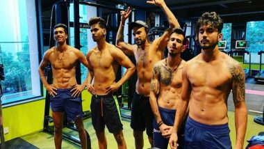 Yuzvendra Chahal, Shreyas Iyer, Shikhar Dhawan & Manish Pandey Flaunt Rock Hard Abs as They Hit the Gym Ahead of IND vs AUS, 2nd ODI 2020 (See Pic)