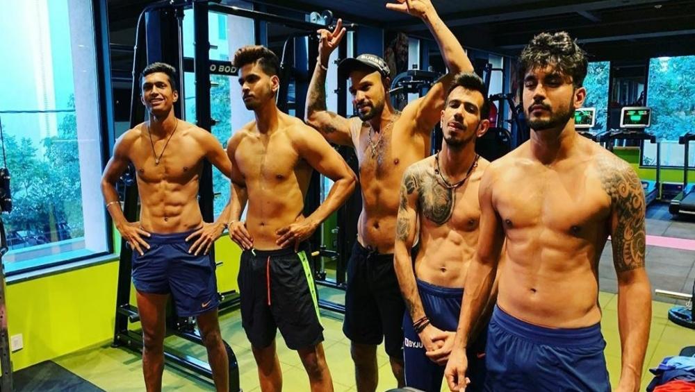Yuzvendra Chahal, Shreyas Iyer, Shikhar Dhawan & Manish Pandey Flaunt Rock Hard Abs as They Hit the Gym Ahead of IND vs AUS, 2nd ODI 2020 (See Pic)
