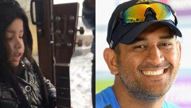 MS Dhoni's Daughter Ziva Sings 'Equestria, the Land I Love' on a Snowy Day, CSK Captain Posts Cute Video on Instagram