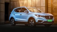 MG ZS EV SUV Launch LIVE News Updates: India Prices, Features, Variants & Specifications