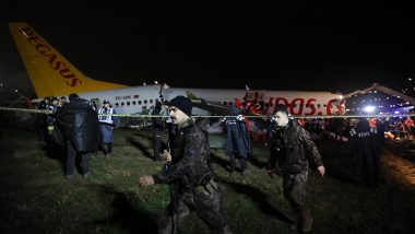 Pegasus Airlines Plane Carrying 177 Onboard Skids Off Runway in Istanbul, Breaks Into Three Pieces at Sabiha Gokcen Airport (See Pics)