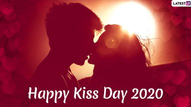 Happy Kiss Day 2020 Images and HD Wallpapers for Free Download Online: Wish on Seventh Day of Valentine Week With Hot GIF Greetings and WhatsApp Stickers