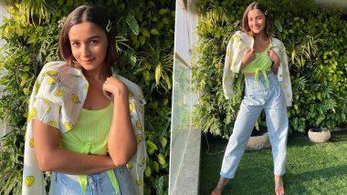 Alia Bhatt Is Springtime Chic in Denim, Neon and Smileys!