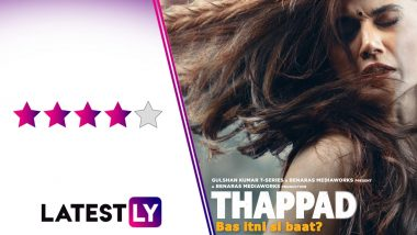 Thappad Movie Review: Anubhav Sinha's Social Drama Is a Stinging Slap on Male Privilege With Taapsee Pannu in Stellar Form