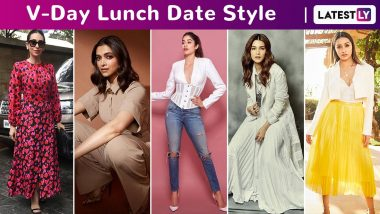 Valentine's Day 2020 Lunch Date Style: Allow Janhvi Kapoor, Deepika Padukone, Kriti Sanon and Shraddha Kapoor to Render You Flawless!