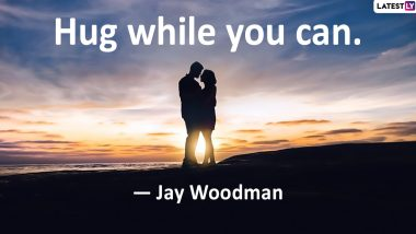 Hug Day 2020 Images With Romantic Quotes: WhatsApp Stickers, Greetings, Hike GIF Messages, Wishes and SMS to Send on Sixth Day of Valentine Week