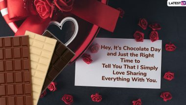 Happy Chocolate Day 2020 Images With Greetings: WhatsApp Stickers, Valentine's Day GIFs, Telegram Messages and Hike Wishes to Send Your Lover