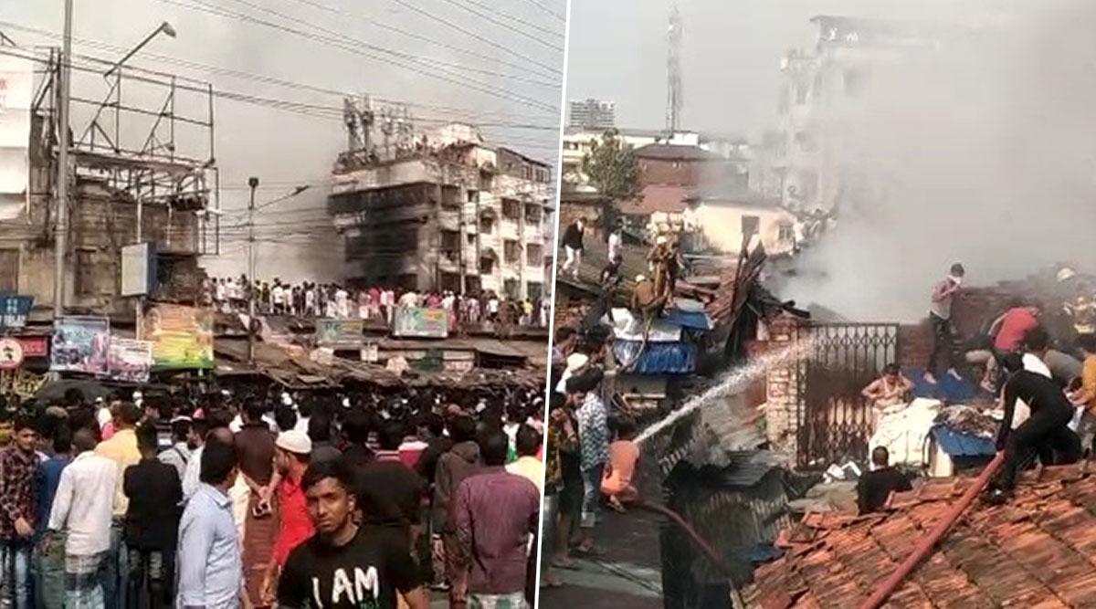 Kolkata: Fire Breaks Out at Raja Bazar in Narkeldanga Area; 12 Fire Tenders At Spot