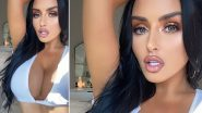 Super Hot Abigail Ratchford Flaunts Cleavage In a While Crop Top With a Plunging Neckline on Instagram!