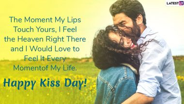 Happy Kiss Day 2020 Wishes and Messages: WhatsApp Stickers, GIF Images, Kiss Day Quotes, SMS and Greetings to Send to Your Valentine