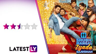 Shubh Mangal Zyada Saavdhan Movie Review: Ayushmann Khurrana, Jitendra Kumar Are Spot On in a Film That Struggles to Come Out to the Viewer