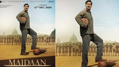 Maidaan: Ajay Devgn Starrer Gets Postponed, New Poster Reveals the Sports Drama Will Hit the Screens on December 11, 2020