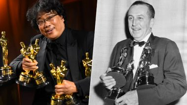 Parasite Director Bong Joon Ho Ties With Hollywood Legend Walt Disney for Winning Most Number of Oscars in One Night