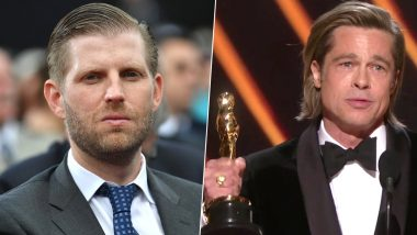 Donald Trump's Son Eric Blasts at 'Smug Elitists' Like Brad Pitt For Oscars Low Ratings