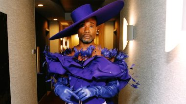 """Billy Porter Grabs Eyeballs at the Oscars 2020 After-Party With His Flowery Purple Outfit and """"F**k You, Pay Me"""" Bag (View Pic)"""