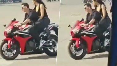 Sooryavanshi: Akshay Kumar and Katrina Kaif's Leaked Video from the Sets Shows Them Enjoying a Bike Ride But Without Helmets