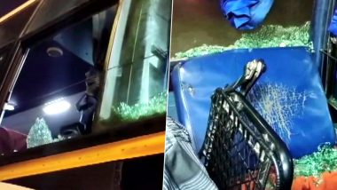 Karnataka Bandh Today: Pro-Kannada Outfits Call for 12-Hour Shutdown Demanding Jobs for Kannadigas, Stones Pelted on Tirupati-Mangaluru Bus in Farangipet
