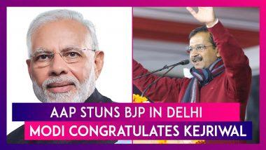 AAP Stuns BJP In Delhi, PM Narendra Modi, Nitish Kumar, Uddhav Thackeray & Others Congratulate Arvind Kejriwal