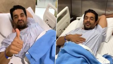 Angad Bedi Undergoes Knee Surgery and Wife Neha Dhupia Is by His Side at the Hospital (Watch Video)
