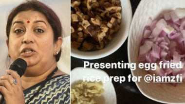 Smriti Irani Shares Recipe for Egg Fried Rice on Instagram