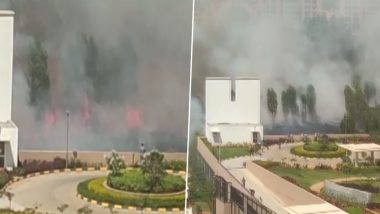 Bengaluru: Fire Erupts Near Prestige Lakeview Habitat; No Injuries Reported