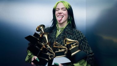 Billie Eilish Breaks Down After Winning the Best International Female Artist at the BRIT Awards 2020 (Watch Video)