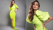 Malaika Arora Takes the Neon Trend to Another Level With Her Stunning Look in This Asymmetrical Gown (View Pics)