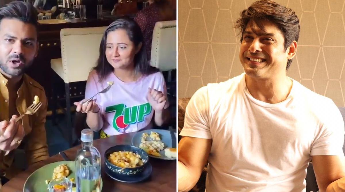 Bigg Boss 13 Contestants Rashami Desai and Vishal Aditya Singh Enjoy a Meal of Pasta Together, Send Sidharth Shukla a 'Hum Chor Nahi Hai' Message (Watch Video)