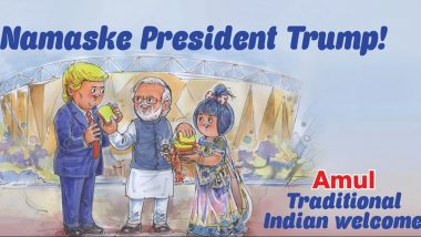 Amul Welcomes US President Donald Trump with Special 'Namaske President Trump' Cartoon