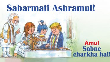 Amul Topical Featuring Trumps' Visit To Sabarmati Ashram Is Here And You Don't Want To Miss It