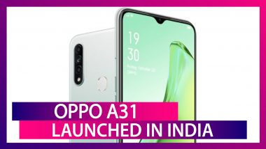 Oppo A31 Smartphone With A 4,230mAh Battery Launched in India From Rs 11,490; Price, Variants, Features & Specifications