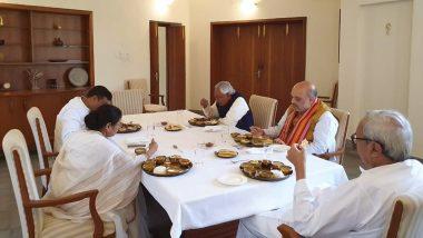 Amit Shah, Mamata Banerjee Share Lunch at Odisha CM Naveen Patnaik's Home; Nitish Kumar Also Join in