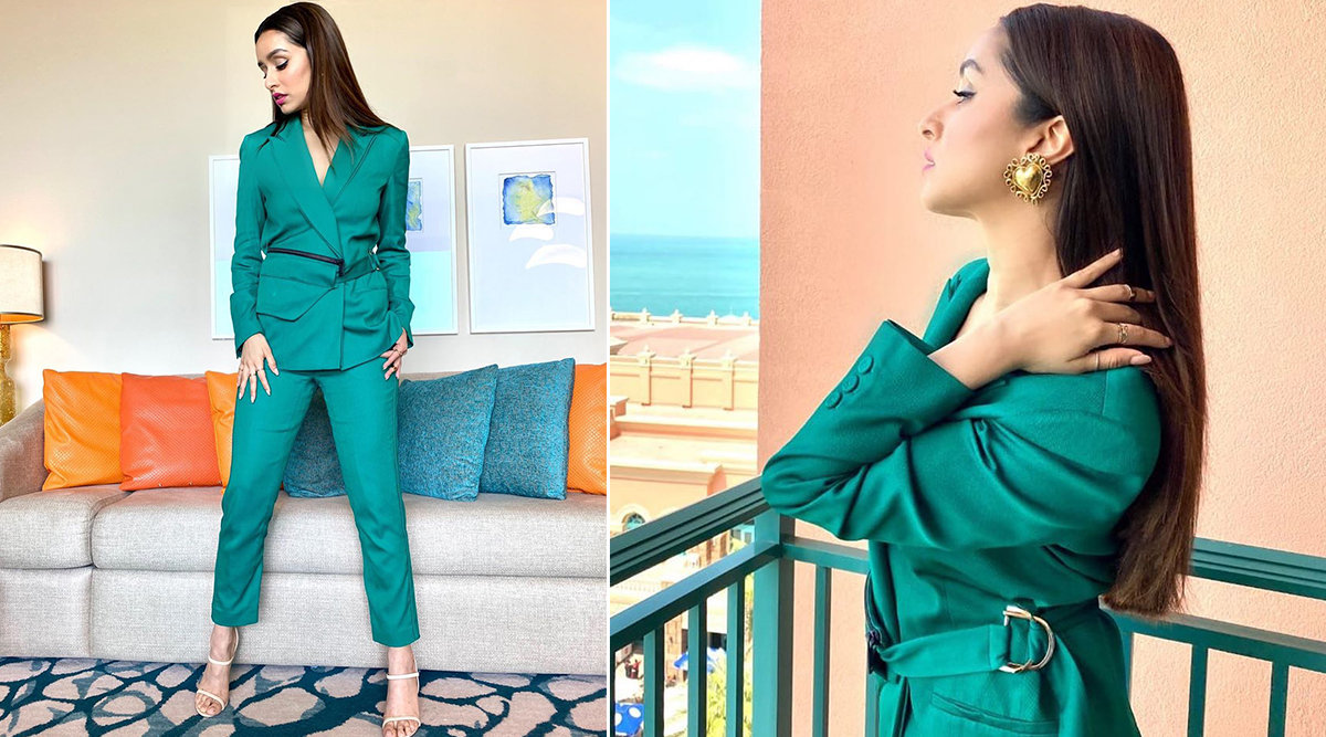 If Loving Shraddha Kapoor's Teal Pantsuit for Baaghi 3 Promotions is a Crime then We Plead Guilty