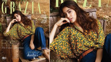 Janhvi Kapoor is Simply Lazing Around on this New Magazine Cover of Grazia India (View Pic)