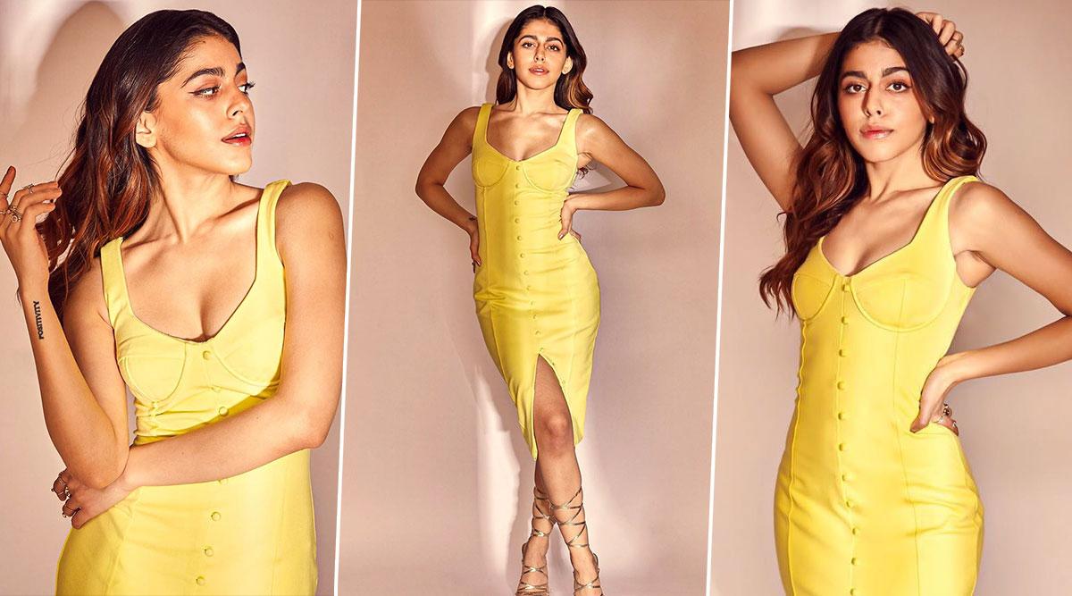 Alaya F Looks Like a Playful Sunflower in her Bright Yellow Lavish Alice Dress