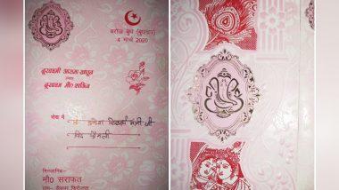 Muslim Man in Meerut Prints Wedding Invitation Card with Hindu Gods; See Pic