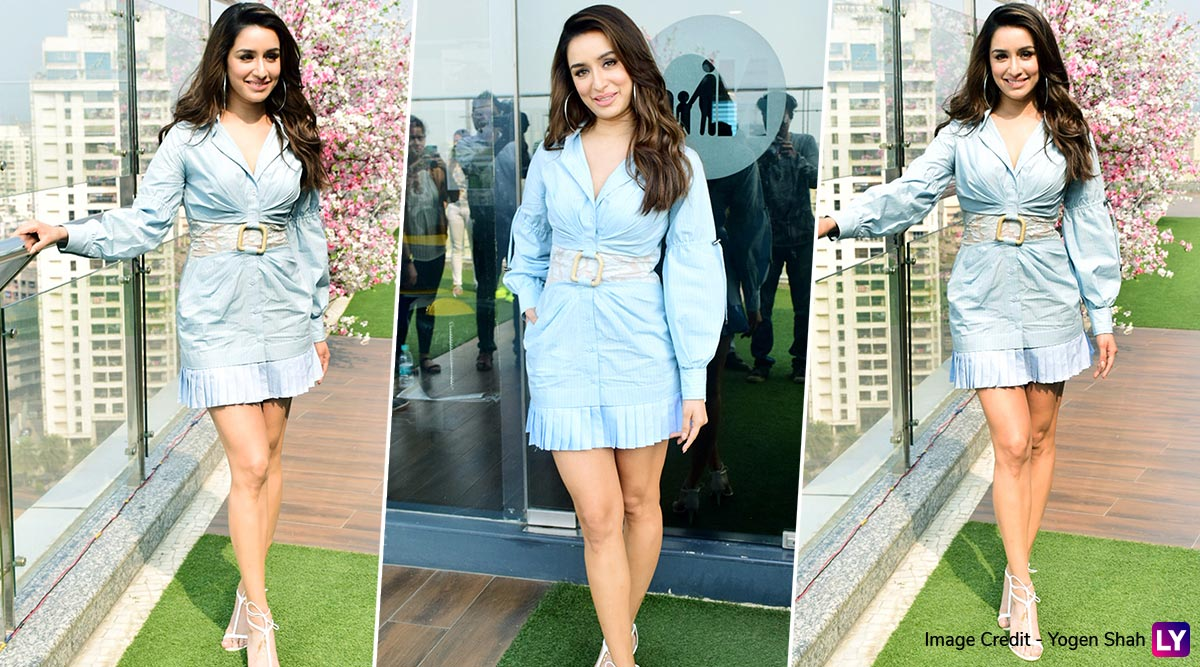 Yo or Hell No? Shraddha Kapoor in Blue Kanika Goyal Dress for Baaghi 3 Promotions