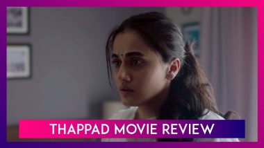 Thappad Movie Review: Taapsee Pannu Puts up A Strong Act in This Powerful Drama