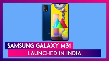 Samsung Galaxy M31 Featuring A 6,000mAh Battery Unveiled in India From Rs 14,999; Price, Features, Variants & Specs